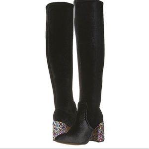 Black thigh high Betsy Johnson boots